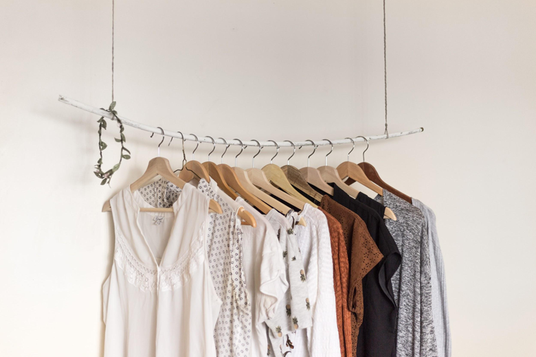 hanging clothes for dry cleaning